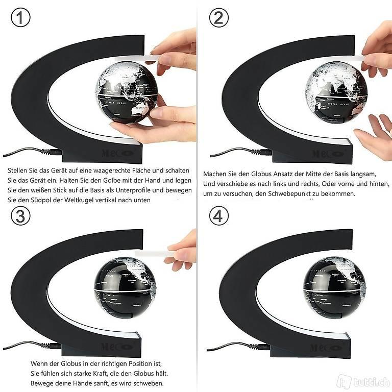 Schwebender Globen Magnetische WeltKugel F/ür Kinder Wohnkultur B/üro Dekoration Business & Geburtstag Geschenke Globus Beleuchtet
