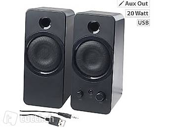 aktive stereo lautsprecher msx 150 mit usb stromversorgung. Black Bedroom Furniture Sets. Home Design Ideas