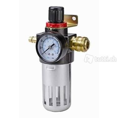 Einhell Filterdruckminderer R 1//4 passend f/ür Kompressoren