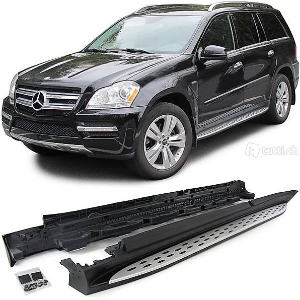 alu trittbretter schweller oe style mercedes gl x166 ab 12. Black Bedroom Furniture Sets. Home Design Ideas