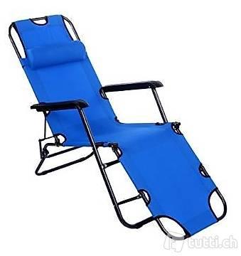 portofrei hell blau liege camping stuhl garten liege in zurich
