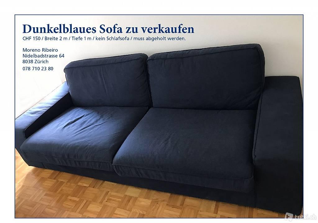 Dunkelblaues Sofa Zu Verkaufen In Zurich Acheter Tutti Ch