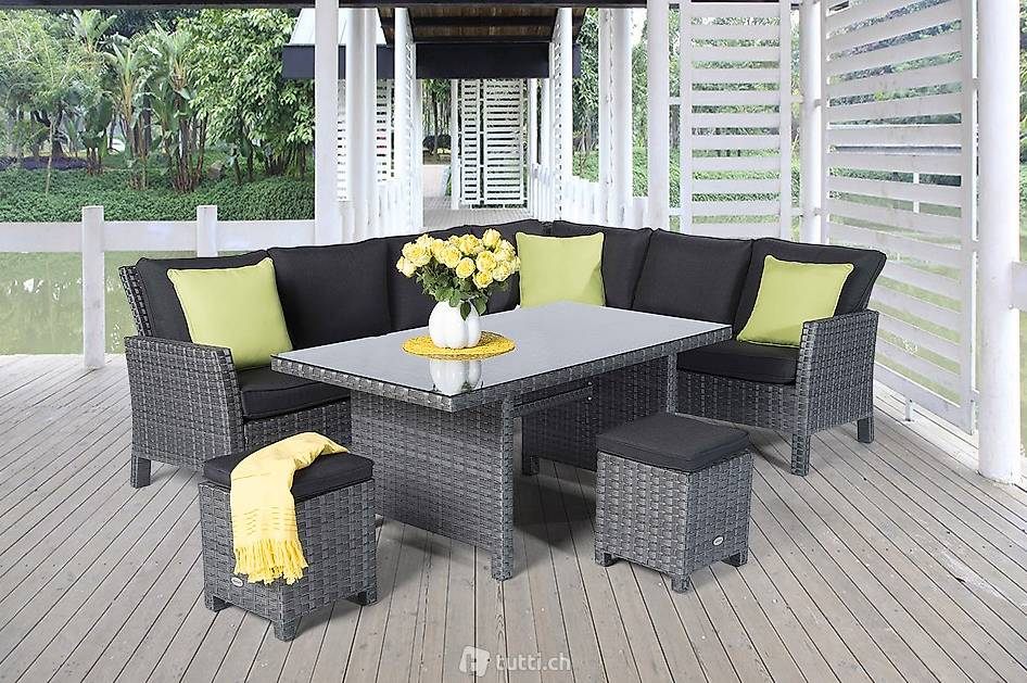 rattan eckbank rattan gartentisch m bel in st gallen kaufen viplounge. Black Bedroom Furniture Sets. Home Design Ideas