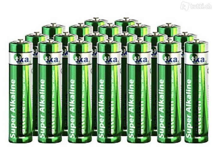 20 Stück Batterie Set Super-Alkaline-Batterien Mignon 1,5V Typ AA