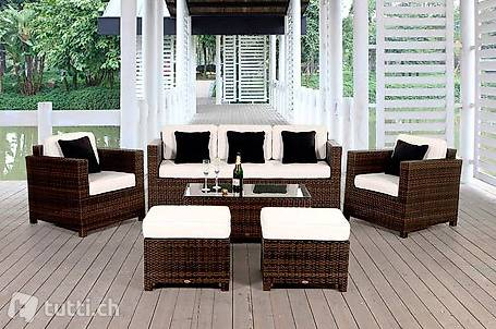 rattan gartenm bel rattan lounge viplounge in z rich kaufen viplounge. Black Bedroom Furniture Sets. Home Design Ideas