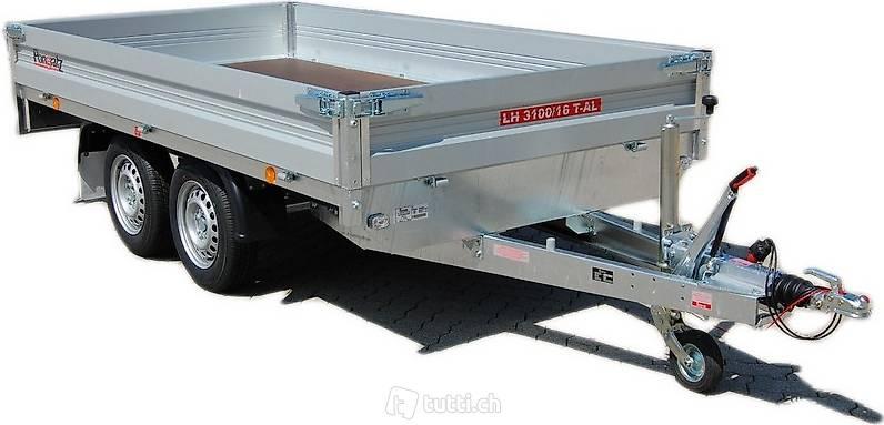 sachenanh nger kaufen pongratz lh 3100 tandemachser trailer in z rich kaufen pongratz anh nger. Black Bedroom Furniture Sets. Home Design Ideas