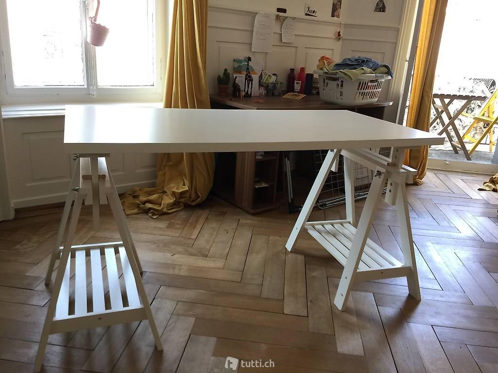 Ikea tisch linnmon finnvard weiss bürotisch in zurich acheter