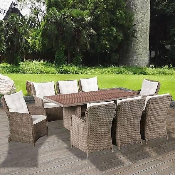 25 teilige garten essgruppe polyrattan akazienholz in zug kaufen bohnet trade gmbh. Black Bedroom Furniture Sets. Home Design Ideas