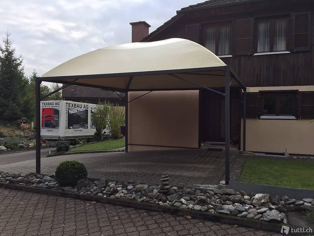 carport unterstand mit wasserrinne wasserablauf durch st tze in solothurn kaufen texbau ag. Black Bedroom Furniture Sets. Home Design Ideas