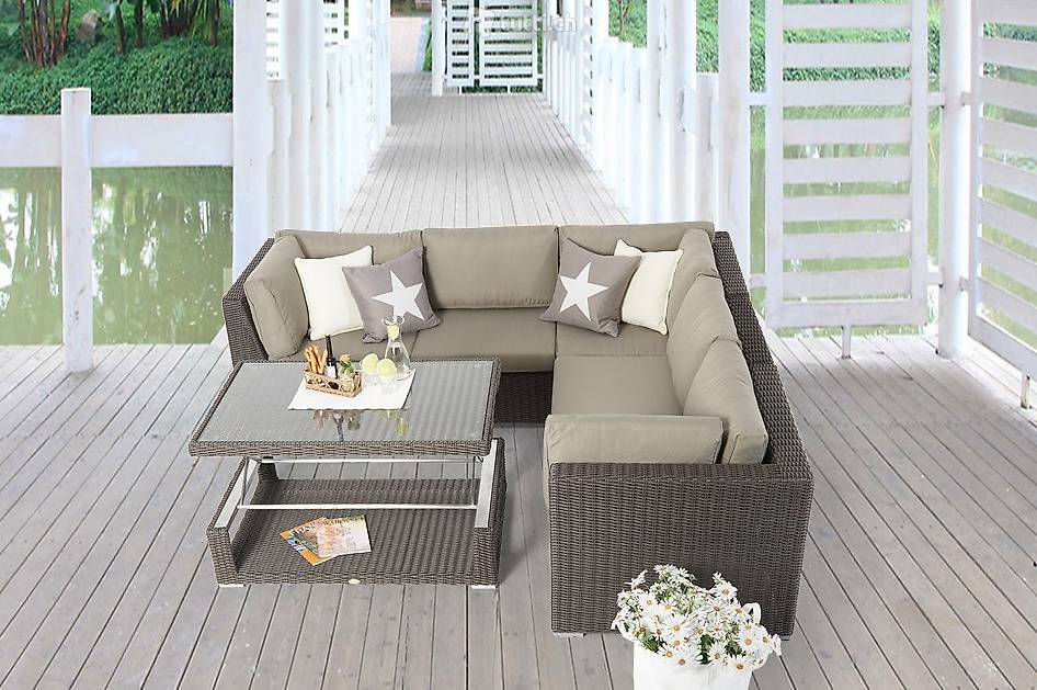 gartenm bel loungem bel rattanm bel tisch verstellbar in bern kaufen viplounge. Black Bedroom Furniture Sets. Home Design Ideas