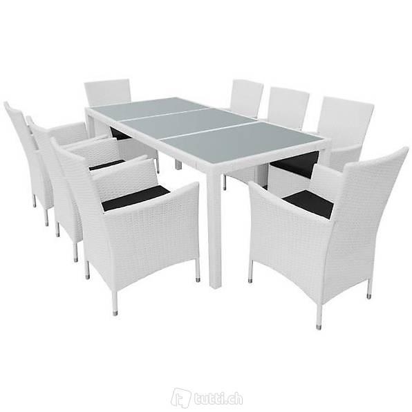 17 teilige garten essgruppe polyrattan in zug kaufen bohnet trade gmbh. Black Bedroom Furniture Sets. Home Design Ideas