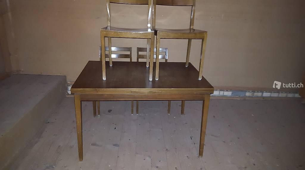 tisch mit 4 st hlen in st gallen kaufen. Black Bedroom Furniture Sets. Home Design Ideas