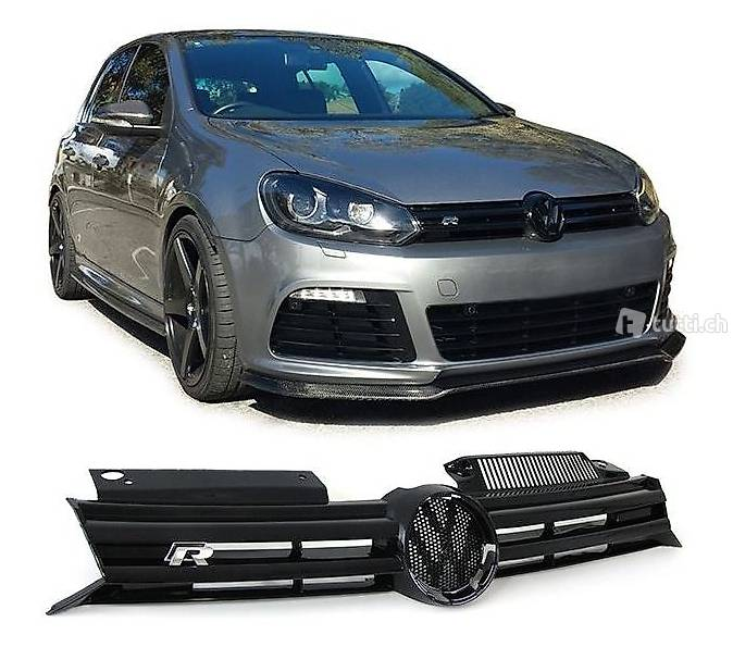 grill r20 schwarz glanz vw golf 6 vi in z rich kaufen. Black Bedroom Furniture Sets. Home Design Ideas