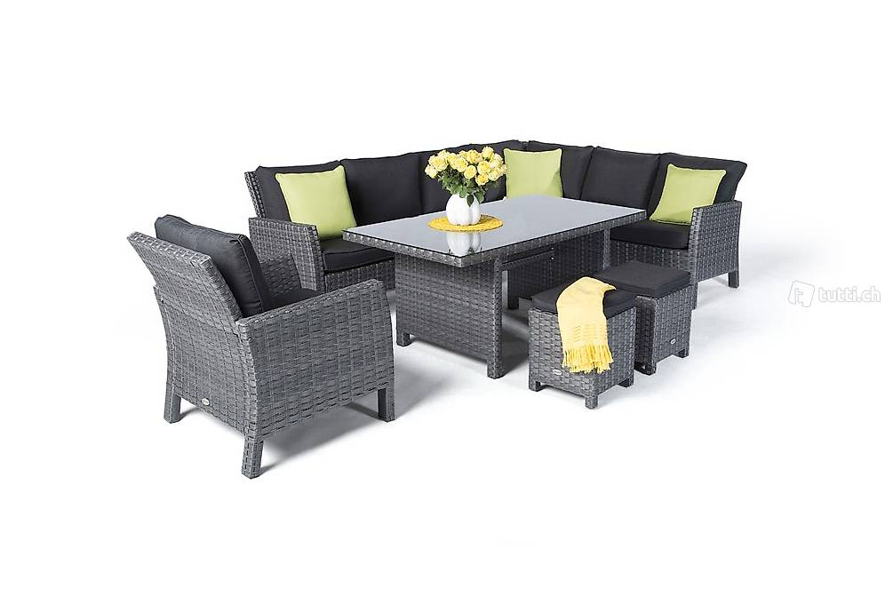 rattan garden dining table in z rich kaufen viplounge. Black Bedroom Furniture Sets. Home Design Ideas