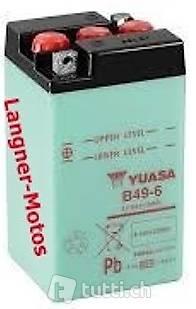 b49 6 yuasa motorrad batterie 6v 8ah b49 6 neuware in. Black Bedroom Furniture Sets. Home Design Ideas