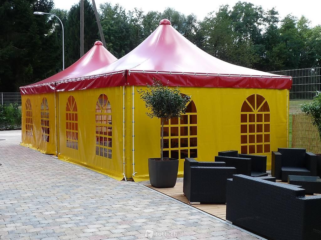 ganzjahreszelt gartenzelt pavillon unterstand carport in solothurn kaufen texbau ag. Black Bedroom Furniture Sets. Home Design Ideas