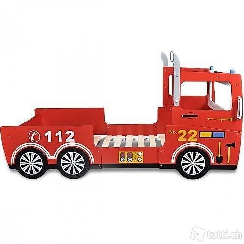 Kinderbett Feuerwehrwagen 200 x 90 cm Rot in Zug kaufen - Bohnet ...