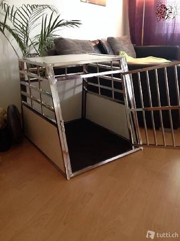 hundebox f r auto oder wohnung aus stahl neu ca s n. Black Bedroom Furniture Sets. Home Design Ideas