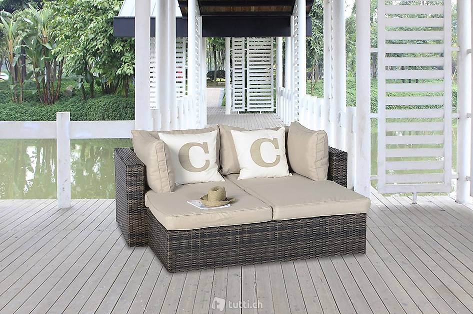 rattan lounge liege braunes geflecht rattan gartenm bel in z rich kaufen viplounge. Black Bedroom Furniture Sets. Home Design Ideas