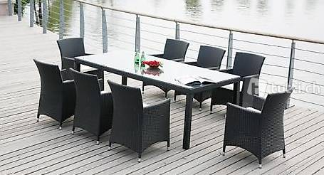 gartentisch set rattantisch mit 8 st hlen in st gallen kaufen viplounge. Black Bedroom Furniture Sets. Home Design Ideas