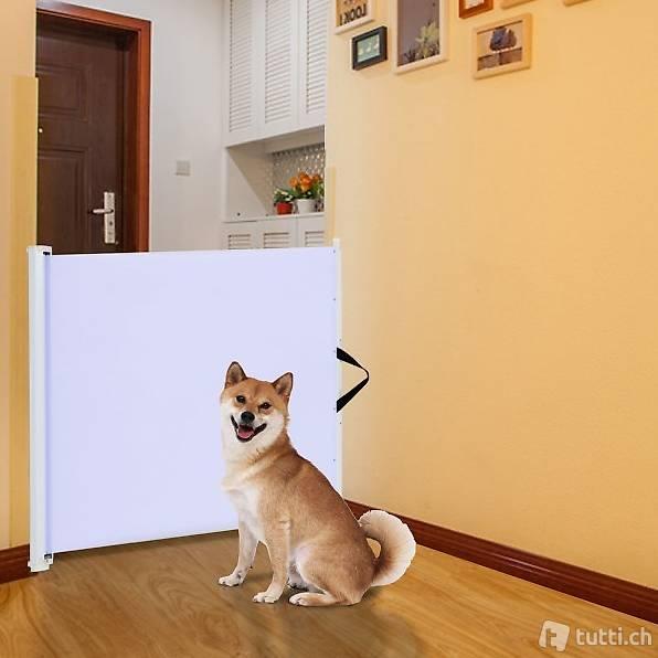 Pawhut Hunde T/ürschutzgitter Treppenschutzgitter Hundegitter