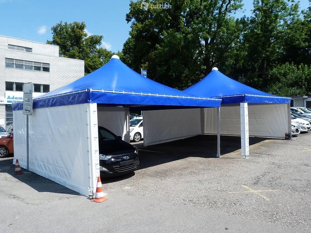 5 x 5m carport autounterstand pavillon unterstand zelt in solothurn kaufen texbau ag. Black Bedroom Furniture Sets. Home Design Ideas