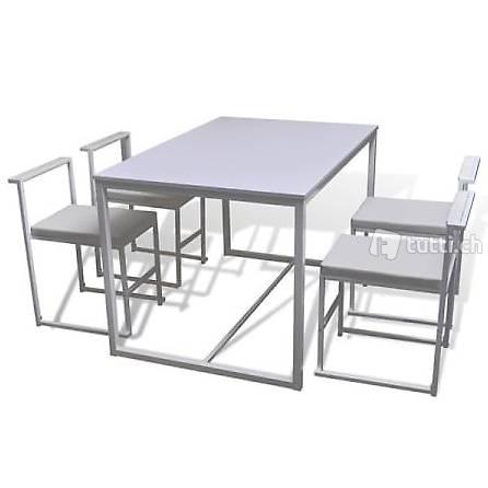 5 teilige essgruppe esstisch und st hle wei in zug kaufen bohnet trade gmbh. Black Bedroom Furniture Sets. Home Design Ideas