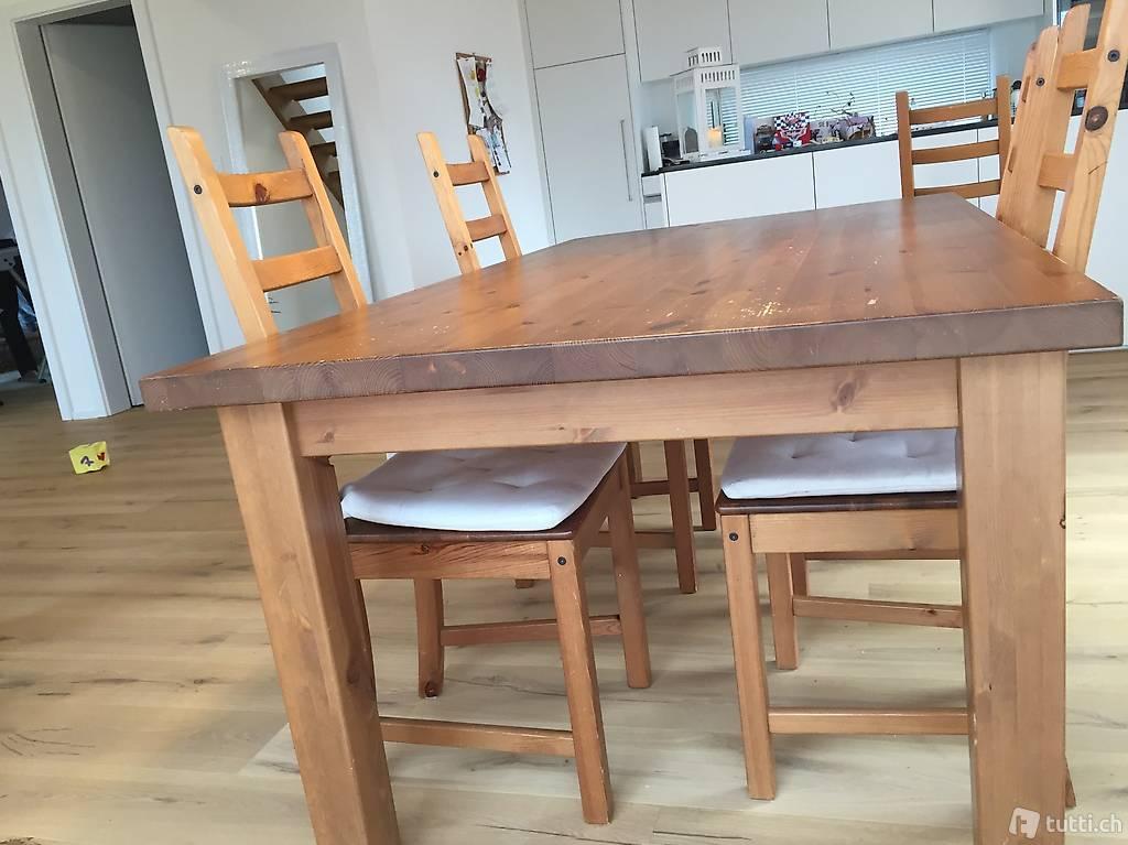 tisch mit 4 st hlen in bern kaufen. Black Bedroom Furniture Sets. Home Design Ideas