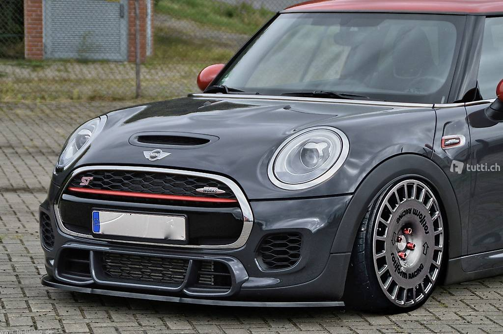 spoilerlippe mini cooper works jcw f55 f56 front schwert. Black Bedroom Furniture Sets. Home Design Ideas