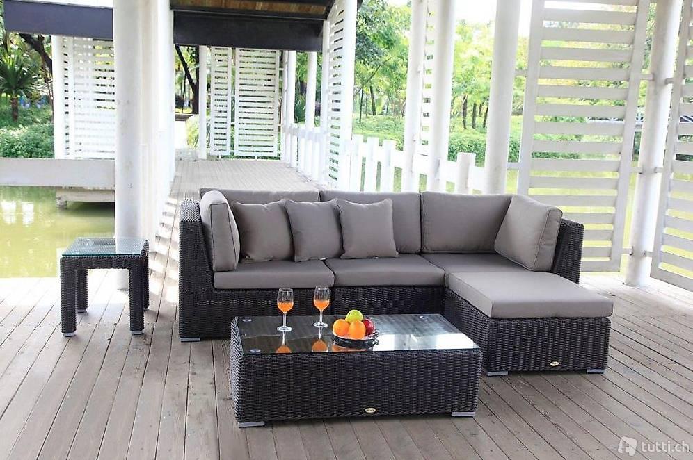 gartenm bel rattan lounge luxus gartenlounge in z rich kaufen viplounge. Black Bedroom Furniture Sets. Home Design Ideas