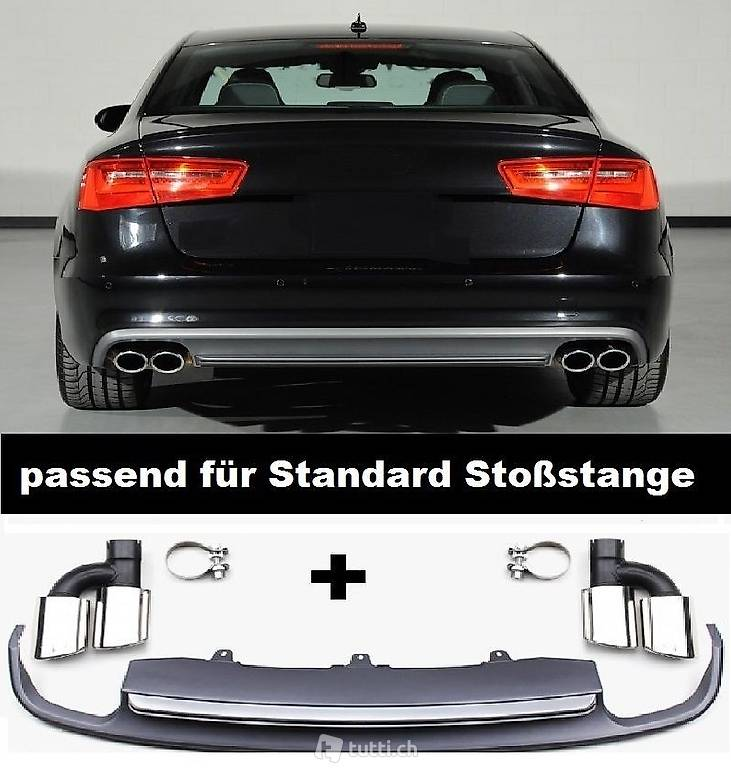 f r audi a6 4g s6 spoiler diffusor s line hecksch rze in st gallen kaufen d s car factory. Black Bedroom Furniture Sets. Home Design Ideas