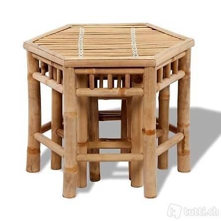 bambus-stuhl-set 3-teilig in zug kaufen - bohnet-trade-gmbh - tutti.ch