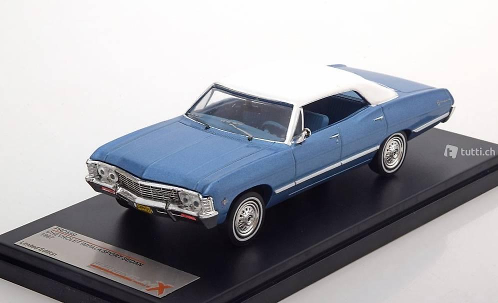 neu chevrolet impala sport sedan 1965 1970 hellblau met. Black Bedroom Furniture Sets. Home Design Ideas