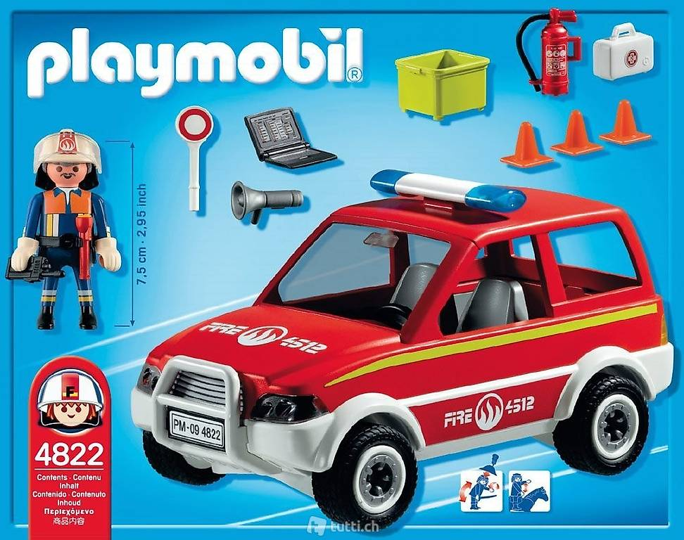 playmobil 4822 feuerwehr kommandowagen neu ovp in basel kaufen. Black Bedroom Furniture Sets. Home Design Ideas