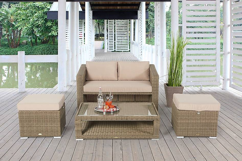 loungen und essen rattan gartenset tisch verstellbar in st gallen kaufen viplounge. Black Bedroom Furniture Sets. Home Design Ideas