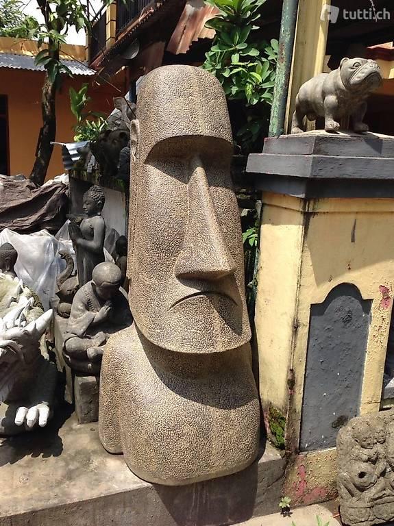 Skulptur moai steinskulptur rapa nui maori figur for Steinskulptur garten
