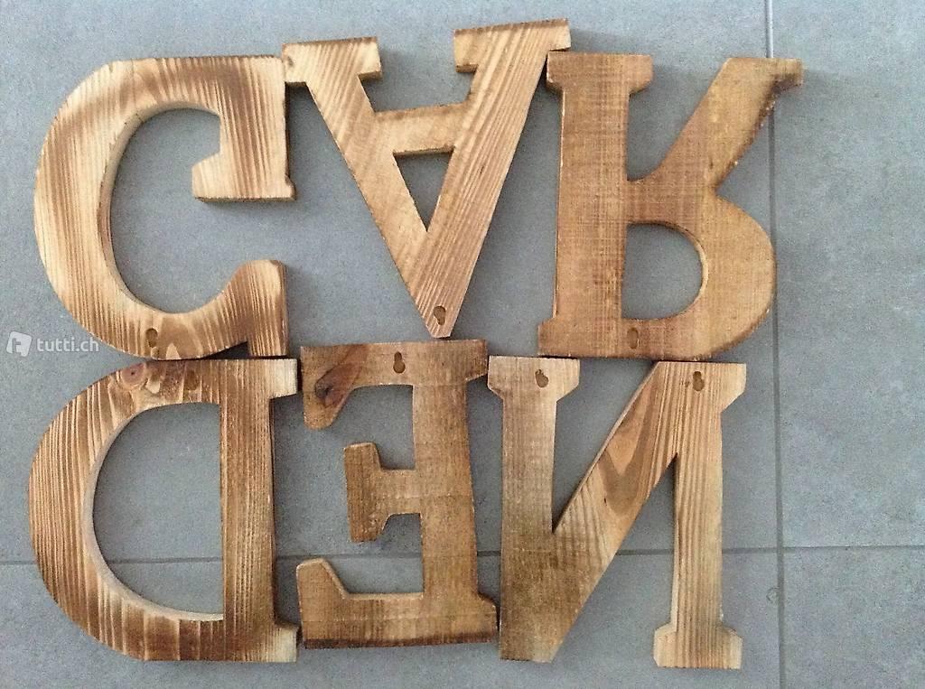 Buchstaben Holz Groß