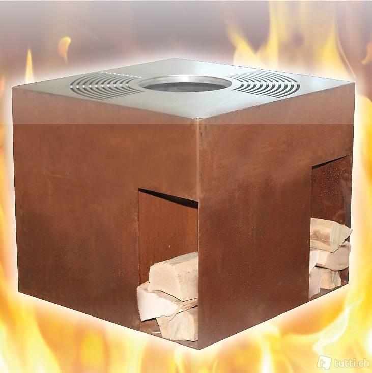 grill kubus 80 in edelstahl und rost in aargau kaufen belcasashop. Black Bedroom Furniture Sets. Home Design Ideas