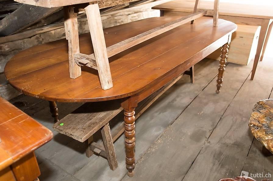 tisch oval antik kirschbaum antiktisch alter esstisch in aargau kaufen baldinger m bel. Black Bedroom Furniture Sets. Home Design Ideas