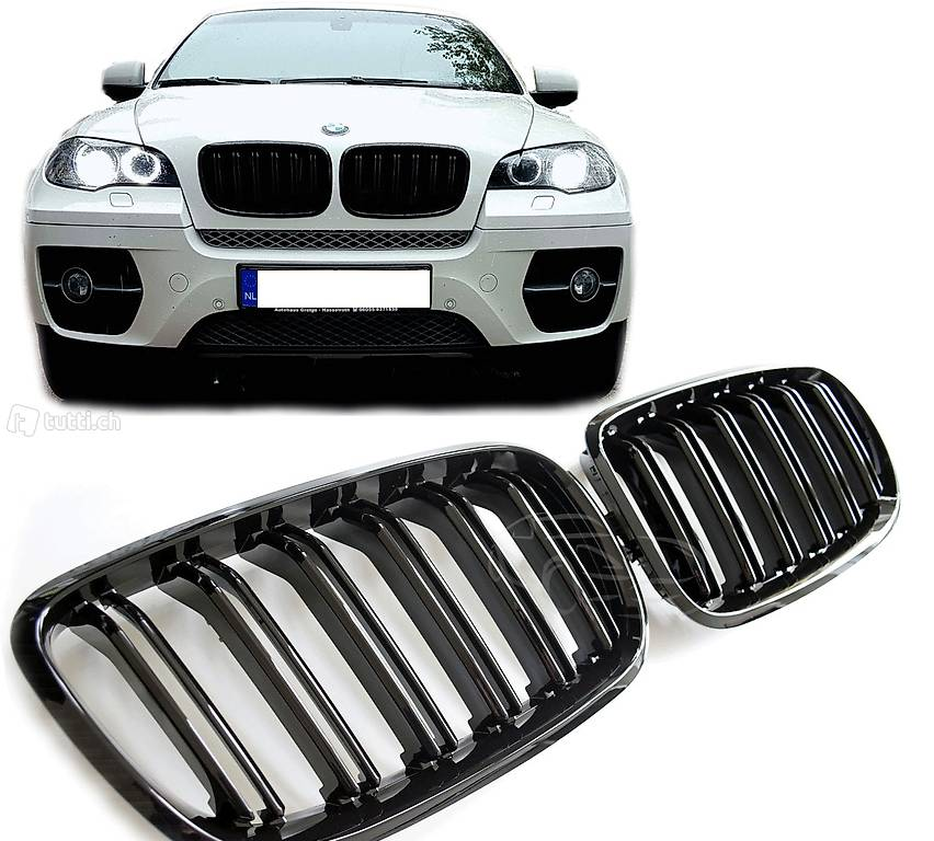 bmw x5 x6 e70 e71 sport k hlergrill nieren grill doppelsteg in aargau kaufen. Black Bedroom Furniture Sets. Home Design Ideas