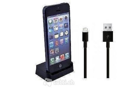 portofrei 2in1 schwarz docking kabel iphone 5 5s 5c desc. Black Bedroom Furniture Sets. Home Design Ideas