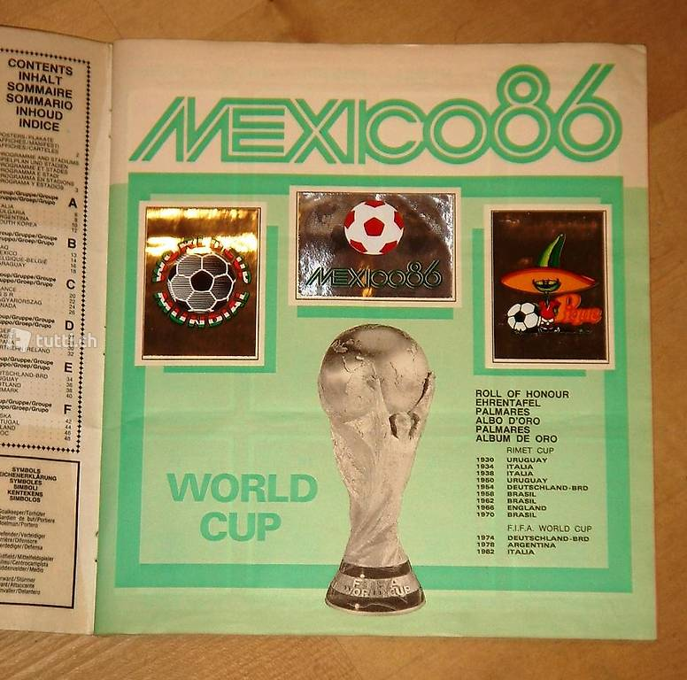 panini fussball wm mexico 1986 in basel kaufen. Black Bedroom Furniture Sets. Home Design Ideas