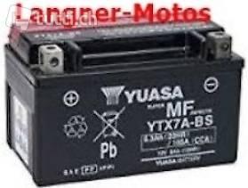 yuasa ytx7a bs motorrad batterie 12v 6ah 105en yamaha. Black Bedroom Furniture Sets. Home Design Ideas