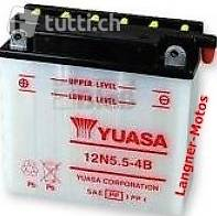 12n5 5 4b yuasa motorrad batterie 12v 5 5ah 55a en neuware. Black Bedroom Furniture Sets. Home Design Ideas