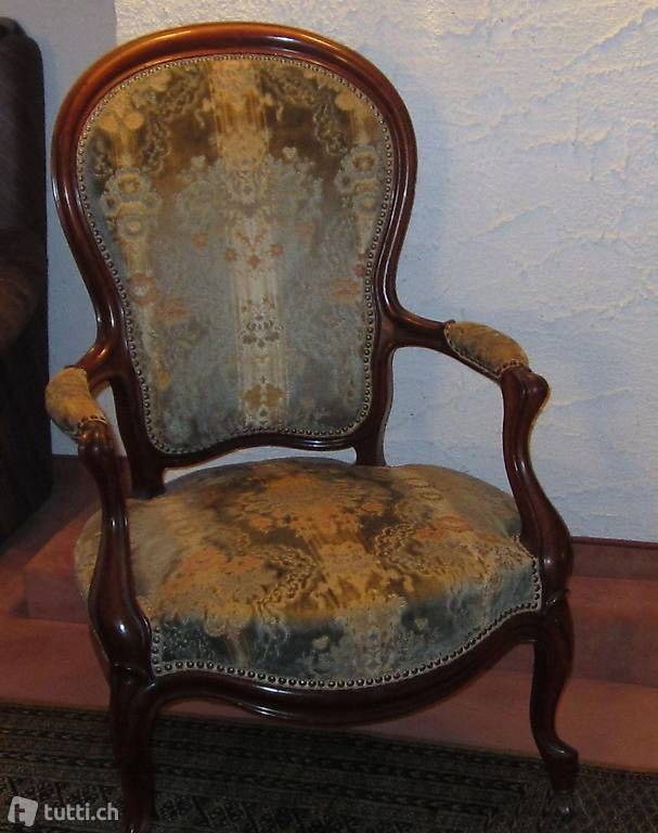 louis philippe stuhl mit 2 rollen restauriert in luzern. Black Bedroom Furniture Sets. Home Design Ideas