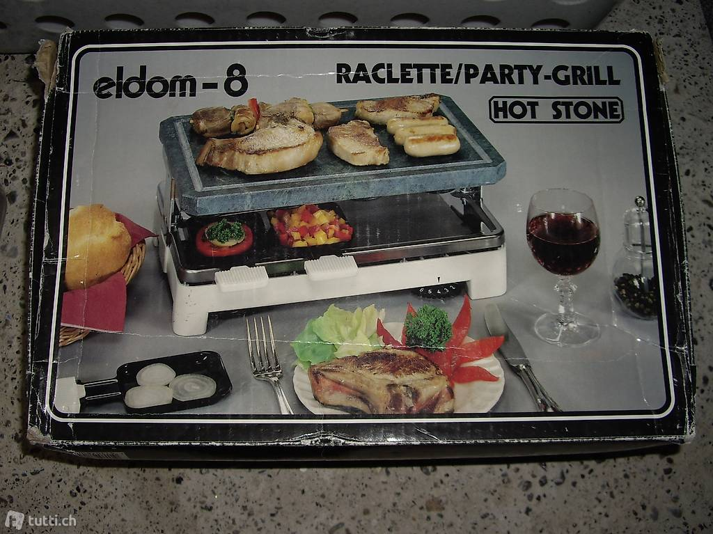 tischgrill raclette hot stone in st gallen kaufen. Black Bedroom Furniture Sets. Home Design Ideas