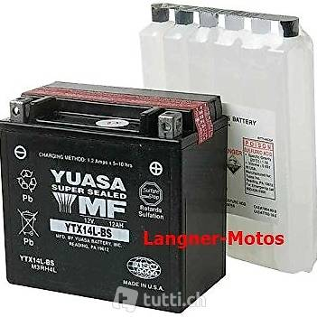 yuasa ytx14l bs motorrad batterie 12v 12ah 200en harley in. Black Bedroom Furniture Sets. Home Design Ideas