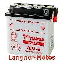 yuasa yb3l b motorrad batterie 12v 3ah 30a en yamaha dt. Black Bedroom Furniture Sets. Home Design Ideas