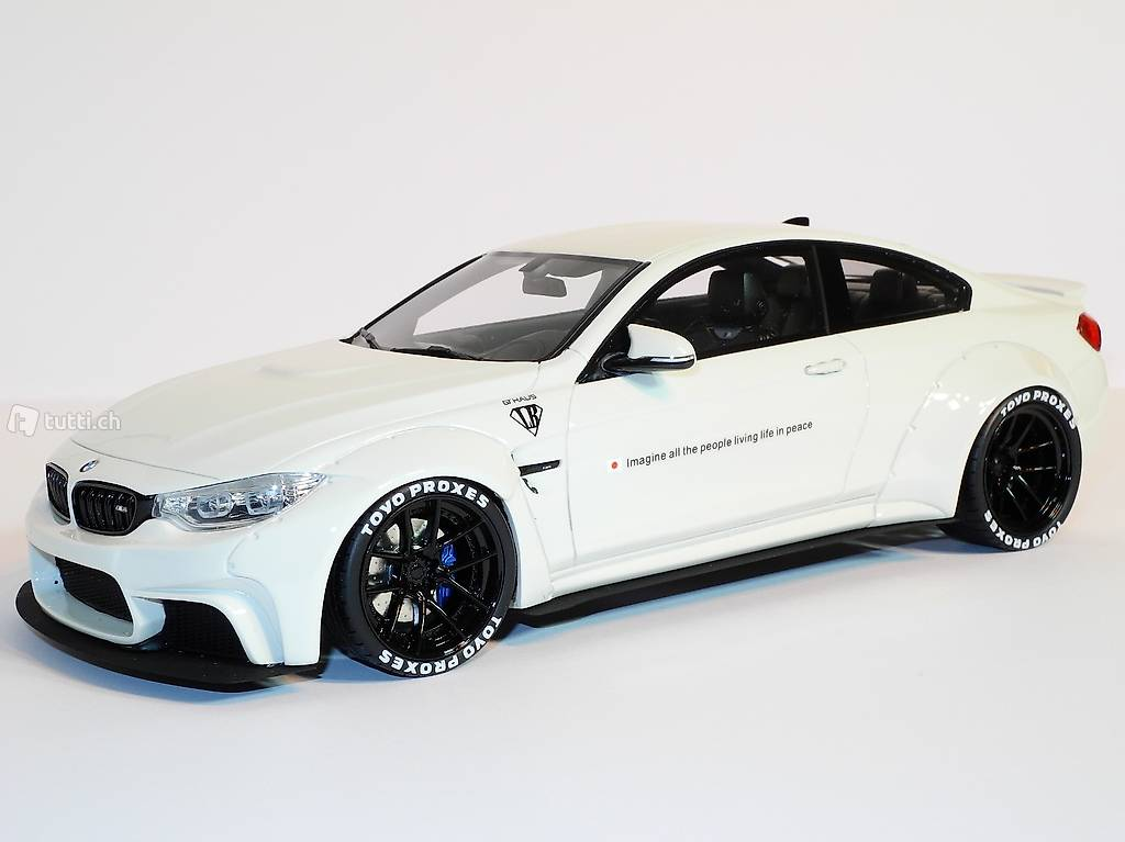 bmw m4 liberty walk lb weiss 2015 gt spirit 1 18 in. Black Bedroom Furniture Sets. Home Design Ideas