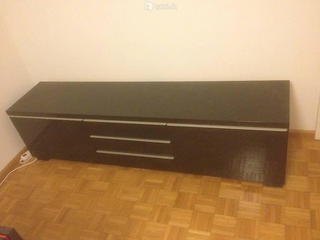 Schwarzes Sideboard, Ikea Modell BESTÅ BURS   40 CHF